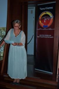 Ö1 Moderatorin Renate Burtscher bei der Laudatio