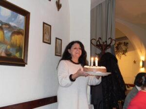 4 Kerzen auf der Torte