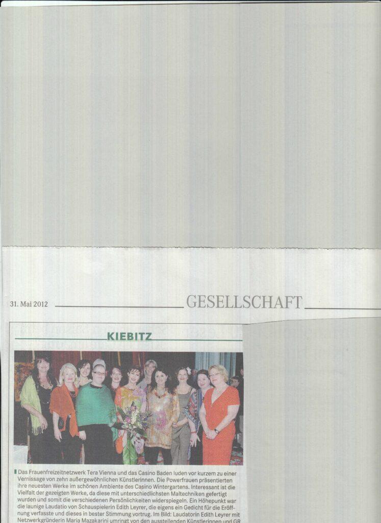 Badener Zeitung 31. Mai 2012