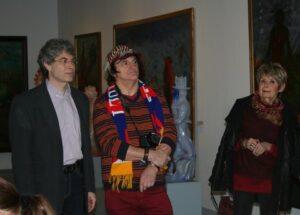 rechts: Künstler Johann Rumpf